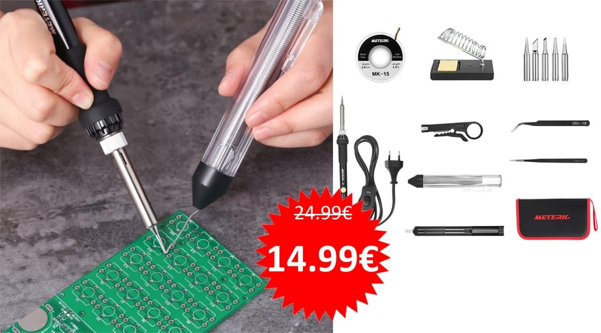 Kit de soldador de estaño Meterk barato. Ofertas en herramientas, herramientas baratas, chollo