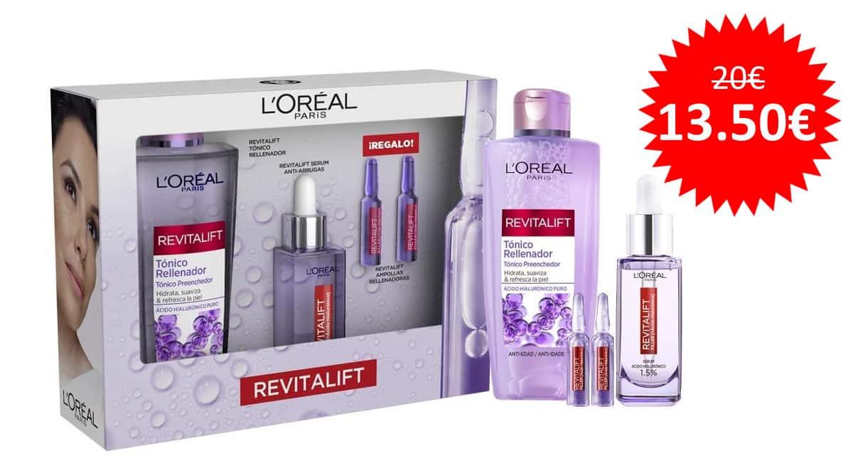 ¡Precio mínimo histórico! L'Oréal Paris Pack Revitalift Filler sólo 13.50 euros.