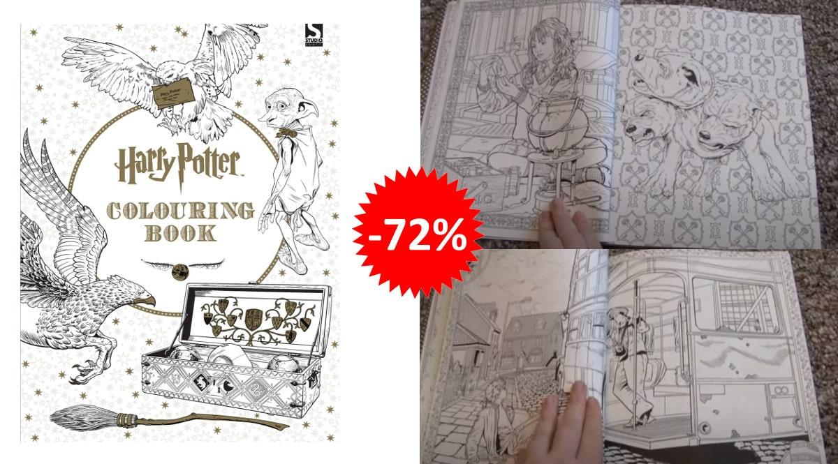 Libro para colorear con 96 páginas de Harry Potter barato, libros baratos, ofertas en libros chollo