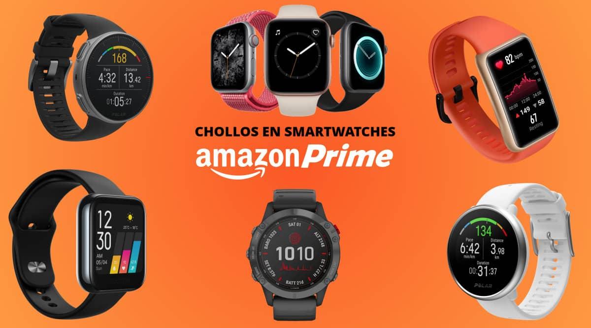 Los mejores chollos en smartwatches del Prime Day 2021, smartwatches baratos, ofertas en smartwatches, chollo