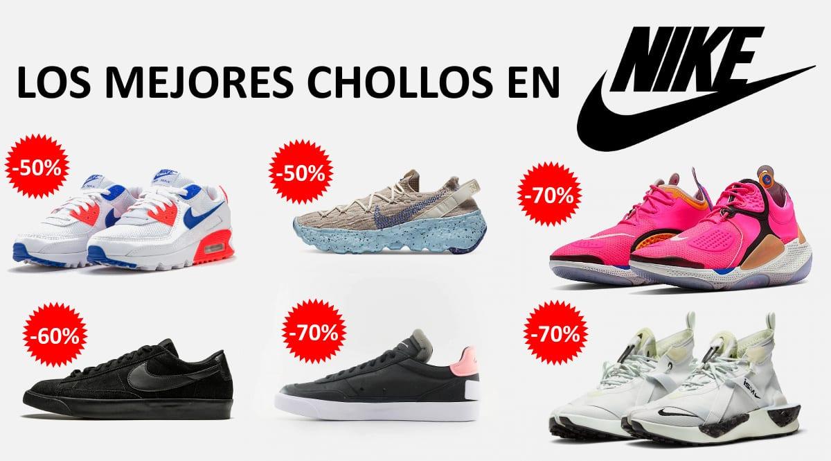 Los mejores chollos en zapatillas Nike, calzado de marca barato, ofertas en zapatillas chollo