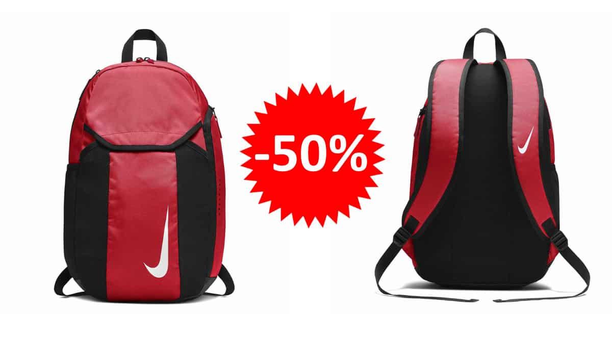 ¡¡Chollo!! Mochila unisex Nike Academy Team sólo 15 euros. 50% de descuento.