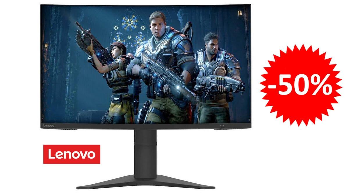 ¡Código descuento! Monitor gaming de 27″ y 165Hz Lenovo G27c-10 sólo 149 euros. 50% de descuento.