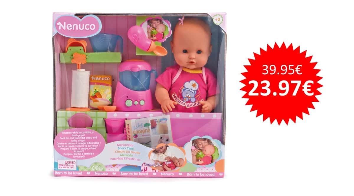 ¡¡Chollo!! Muñeco Nenuco Merienditas sólo 23.97 euros.