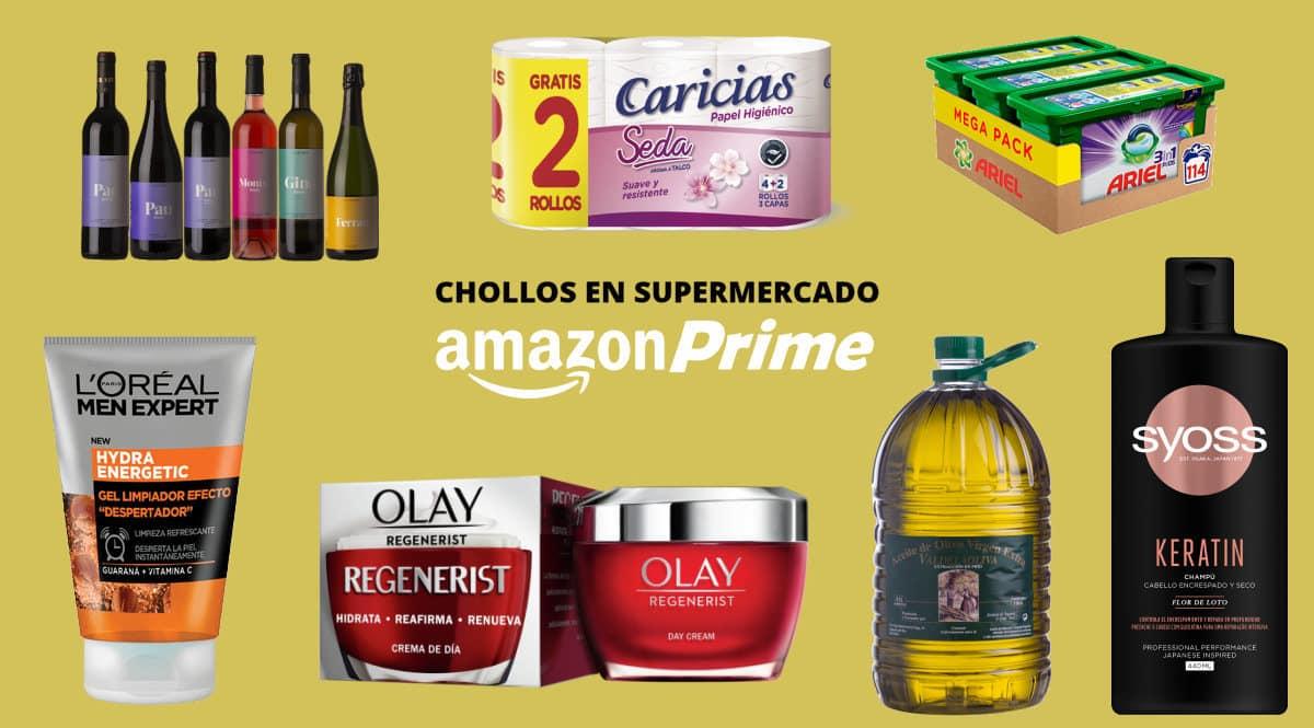 Ofertas en supermercado Amazon Prime day 2021, artículos de supermercado baratos, chollo