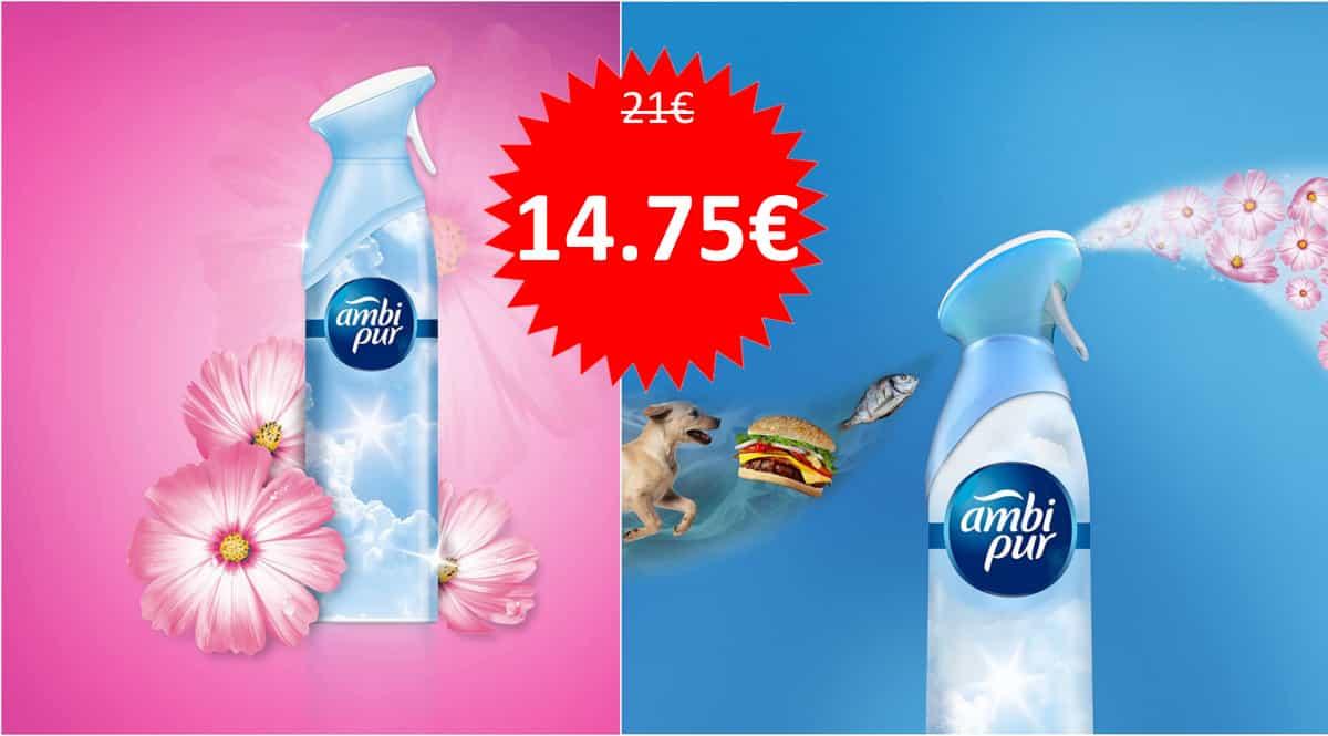 Pack ambientadores AmbiPur Flores Elegantes. Ofertas en supermercado, chollo