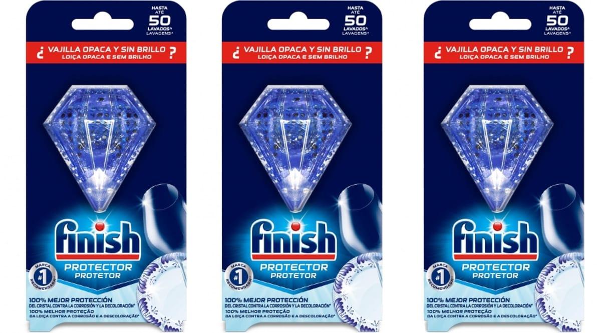 Pack de 3 Finish protector color-brillo vajillas y vidrio sólo 9.98 euros, protector vajilla barato, ofertas supermercado, chollo