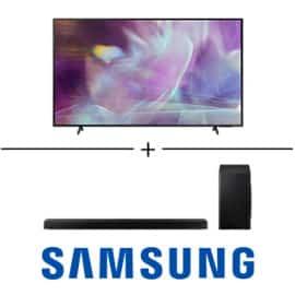 Pack de televisor Samsung QLED QE75Q60A + barra de sonido HW-Q60T barato. Ofertas en televisores, televisores baratos