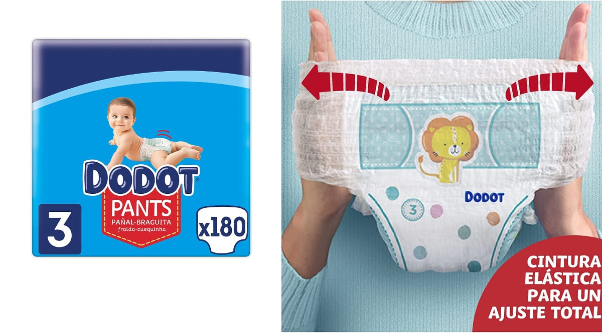 Pañales Dodot Pants baratos, pañales bebé de marca baratos, ofertas supermercado, chollo