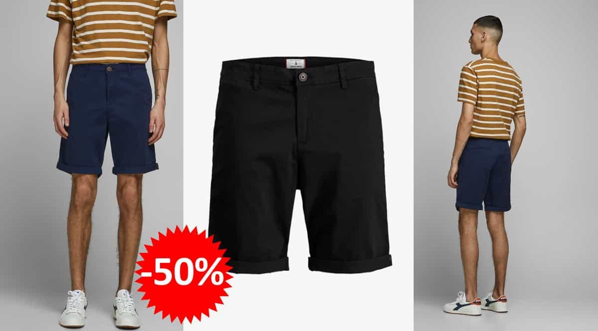 Pantalón corto Jack & Jones Jjibowie barato, pantalones cortos de marca baratos, ofertas en ropa, chollo
