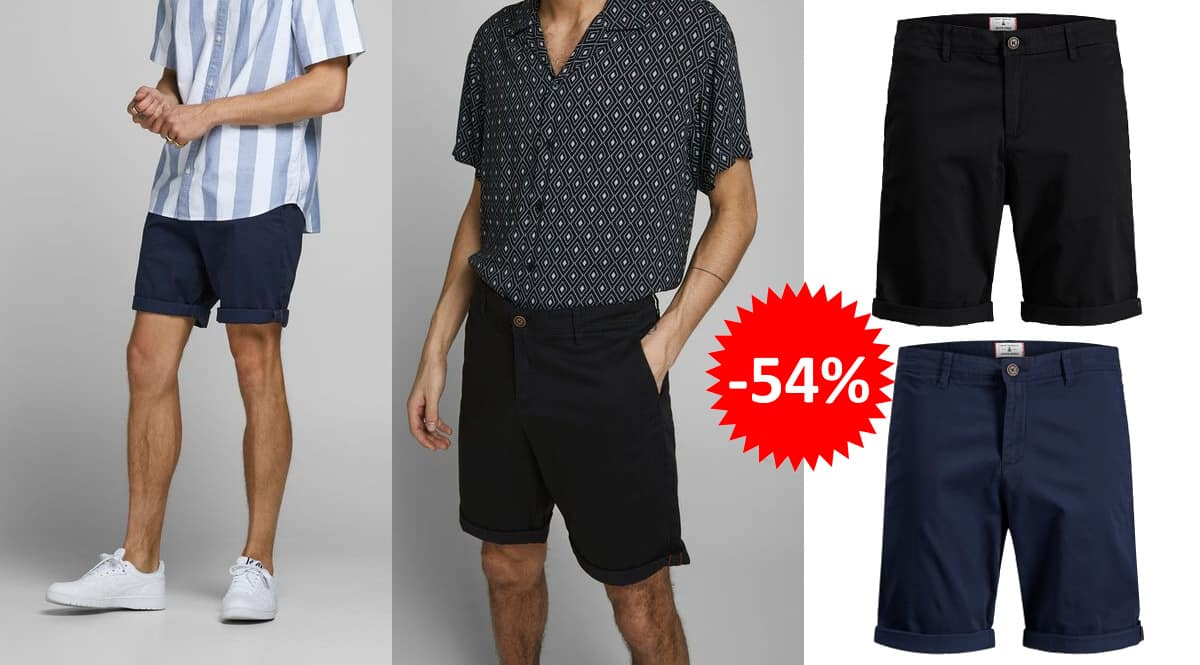 Pantalón corto Jack & Jones Jjibowie barato, ropa de marca barata, ofertas en pantalones chollo