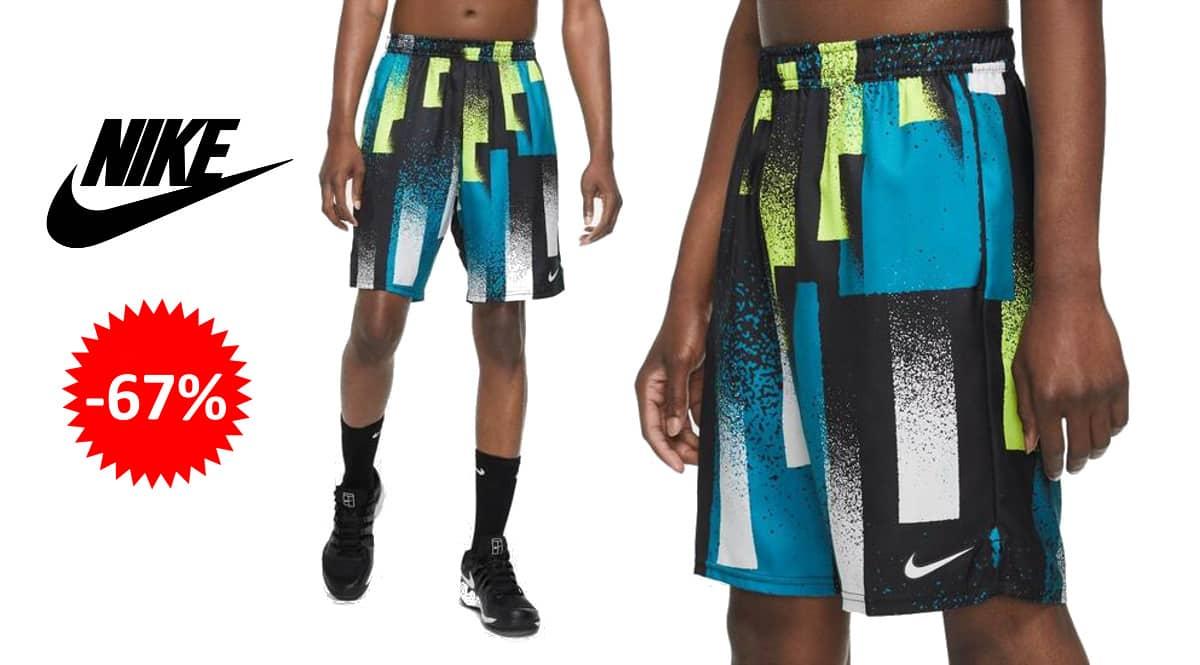 Pantalón corto Nikecourt Dri-fit barato, ropa de marca barata, ofertas en pantalones chollo1