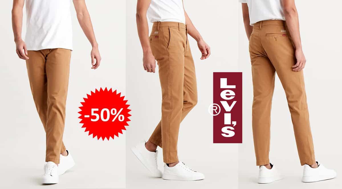 Pantalones chinos Levi's XX baratos, ropa de marca barata, ofertas en pantalones chollo