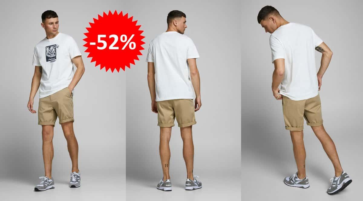 Pantalones cortos Jack & Jones Bowie baratos, ropa de marca barata, ofertas en bermudas chollo
