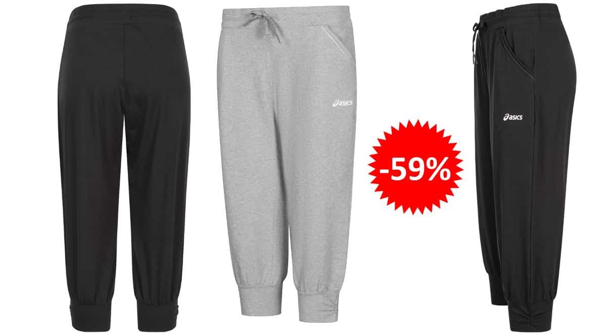 Pantalones de chándal para mujer Asics Capri baratos, ropa de marca barata, ofertas en ropa deportiva chollo