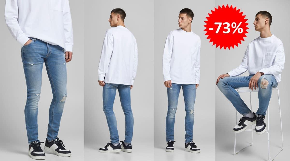 Pantalones vaqueros Jack & Jones Liam Na baratos, ropa de marca barata, ofertas en pantalones chollo