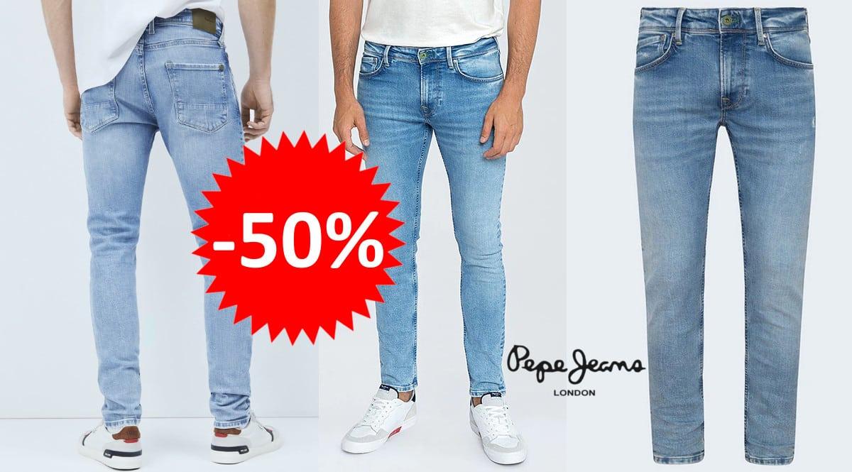 Pantalones vaqueros Pepe Jeans Finsbury baratos. Ofertas en ropa de marca, ropa de marca barata, chollo