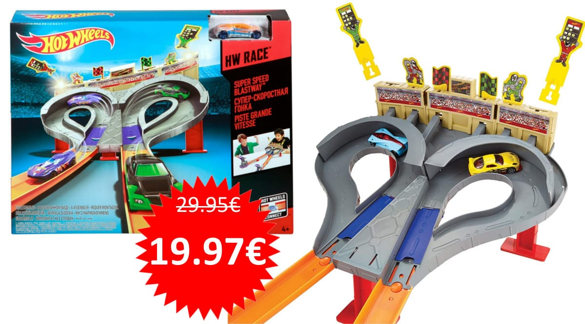 Pista de carreras Hot Wheels Super Speed Blust barata. Ofertas en juguetes, juguetes baratos, chollo
