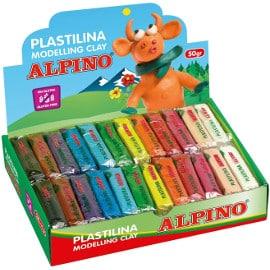 ¡Precio mínimo histórico! Plastilina Alpino, 24 pastillas de 50 gramos, sólo 7.20 euros.