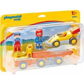 Playmobil 1.2.3 Coche de Carreras con Camión barato, juguetes de marca baratos, ofertas para niños