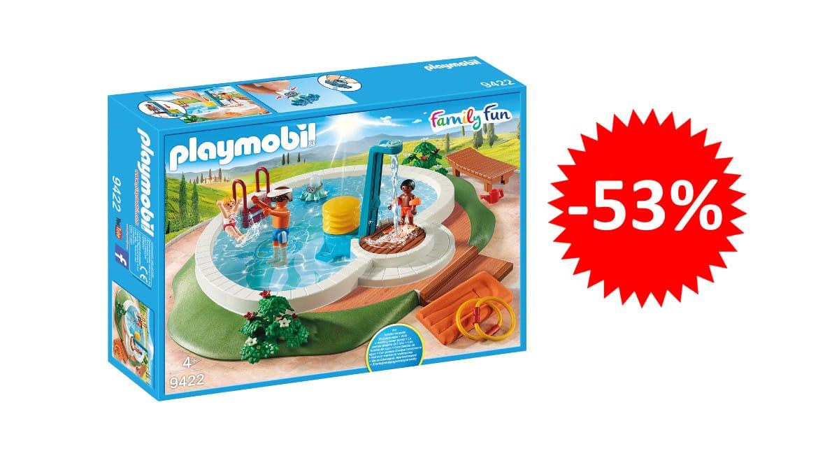 ¡Precio mínimo histórico! Playmobil Piscina Family Fun sólo 16.58 euros. 53% de descuento.