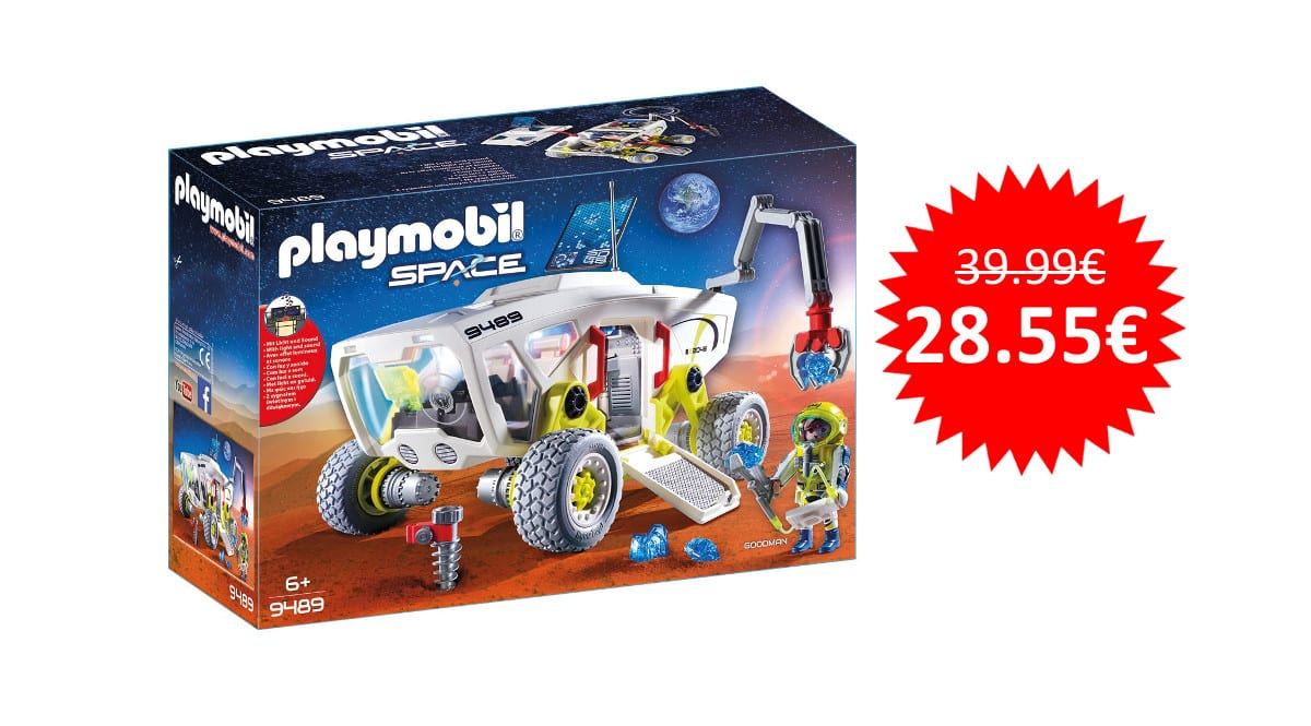 ¡Precio mínimo histórico! Playmobil Vehículo de Reconocimiento Space sólo 28 euros.