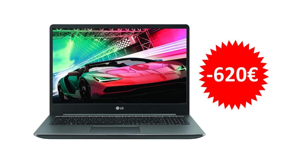 ¡Precio mínimo histórico! Portátil LG Ultra 15U70N, i7/16GB/512GB SSD/GTX 1050-3GB, sólo 879 euros. Te ahorras 620 euros.
