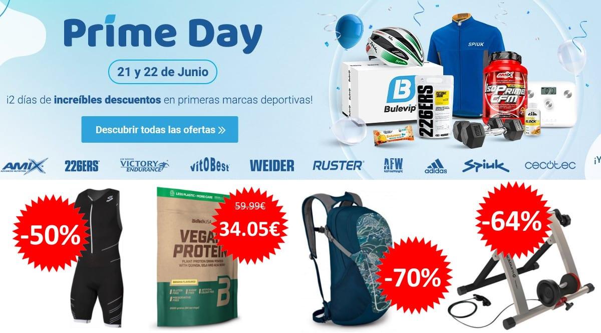 Prime Day en Bulevip. Ofertas en material deportivo, material deportivo barato, chollo