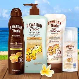 Protectores solares Hawaiian Tropic baratos, cremas solares baratas, ofertas en belleza