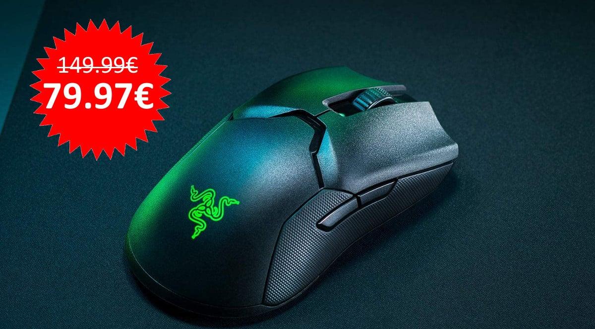 ¡Precio mínimo histórico! Ratón inalámbrico gaming Razer Viper Ultimate sólo 79.97 euros. Te ahorras 70 euros.