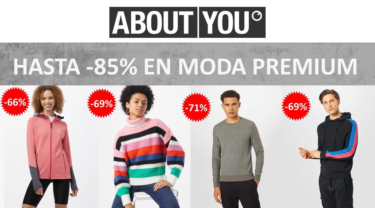 Rebajas en marcas Premium About You, ropa de marca barata, ofertas en ropa chollo