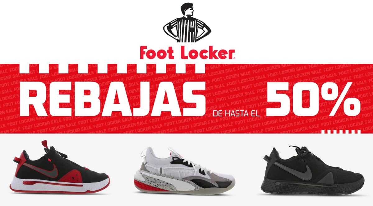 Rebajas zapatillas Foot Locker, calzado de marca barato, ofertas en zapatillas chollo