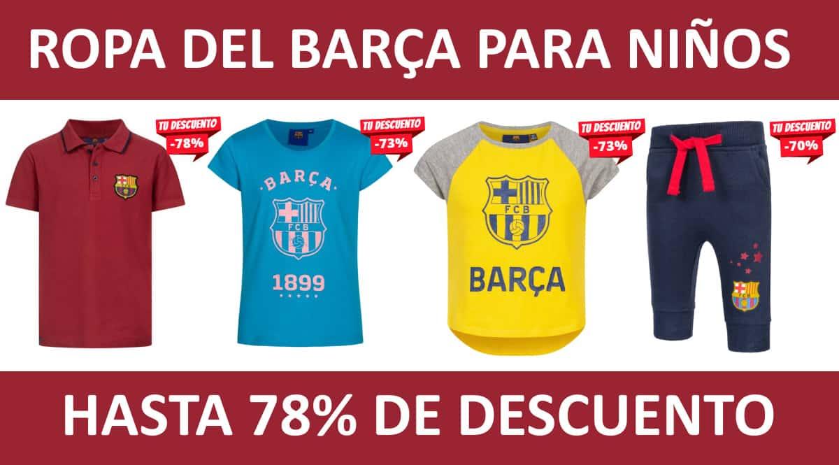 Ropa del Barça para niños barata, ropa de marca barata, ofertas para niños chollo