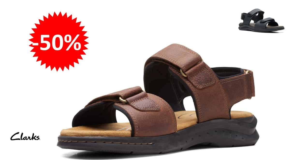 Sandalias Clarks Hapsford Creek baratas, sandalias de marca baratas, ofertas en zapatos, chollo