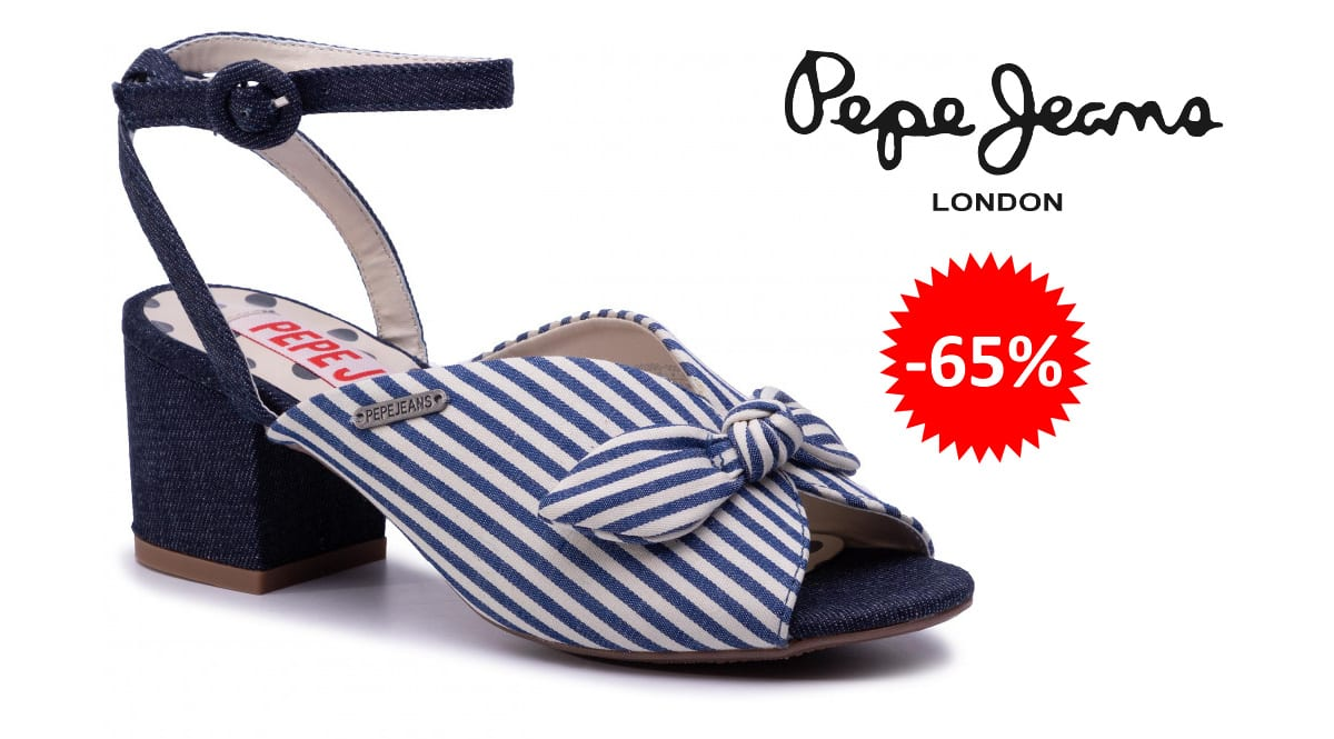 Sandalias Pepe Jeans Yogi Bow baratas, calzado de marca barato, ofertas en sandalias chollo