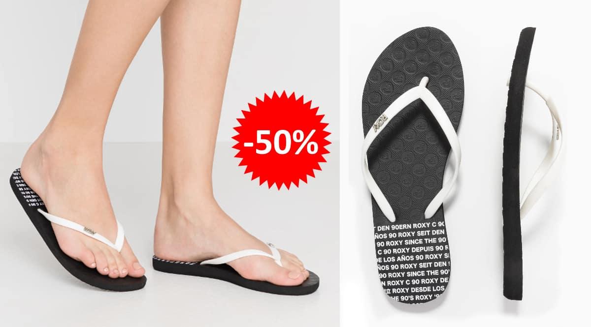 Sandalias Roxy Viva Stamp baratas, calzado de marca barato, ofertas en sandalias chollo