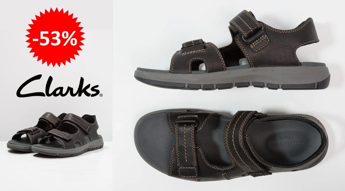 Sandalias de piel Clarks Brixby Shore baratas, calzado de marca barato, ofertas en sandalias chollo