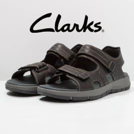 Sandalias de piel Clarks Brixby Shore baratas, calzado de marca barato, ofertas en sandalias