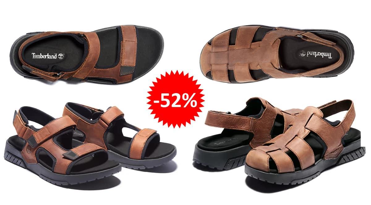 Sandalias de piel Timberland Anchor Watch baratas, calzado de marca barato, ofertas en sandalias chollo