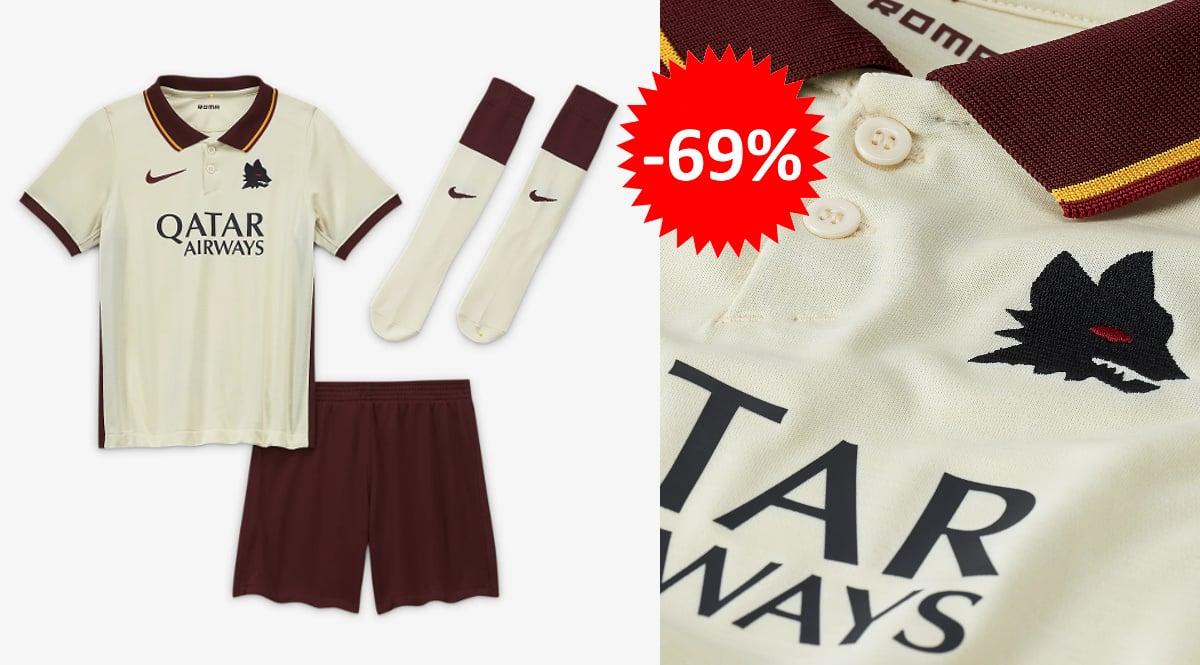 Segunda equipación Nike de la Roma barata, ropa de marca barata, ofertas para niños chollo