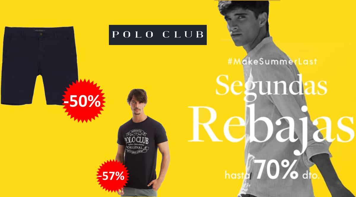 Segundas rebajas moda Polo Club, ropa de marca barata, ofertas en ropa, chollo