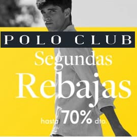 Segundas rebajas moda Polo Club, ropa de marca barata, ofertas en ropa