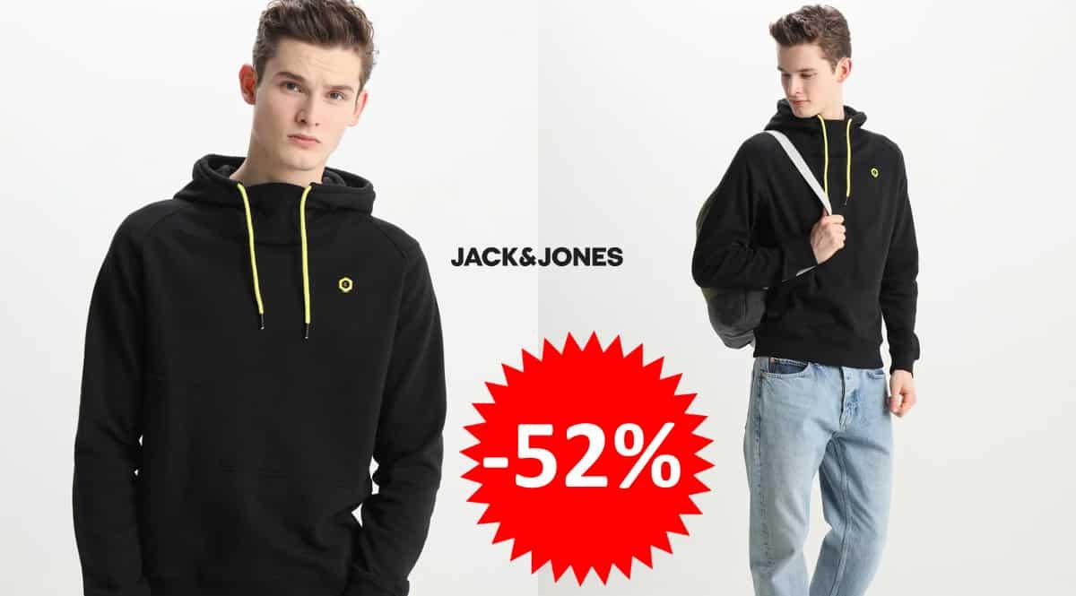 ¡¡Chollo!! Sudadera Jack & Jones Jcopinn Sweat Hood sólo 18.99 euros. 52% de descuento.