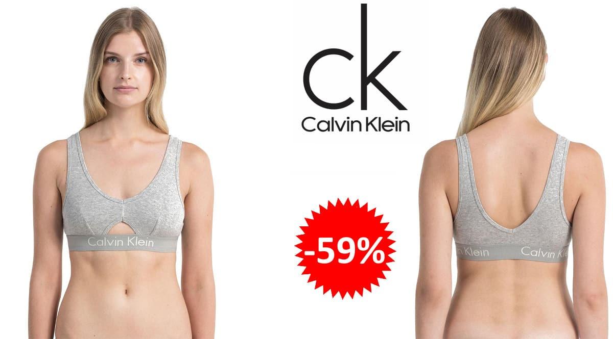 Sujetador sin aros Calvin Klein Unlined Bralette barato, ropa interior de marca barata, ofertas en ropa, chollo
