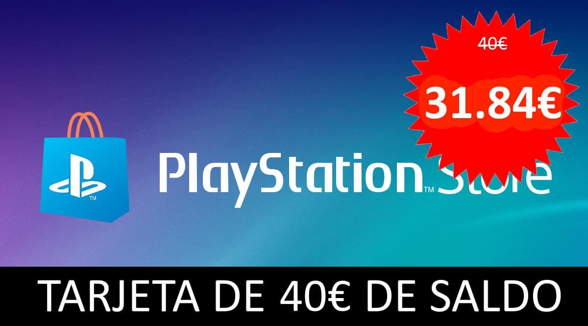 Tarjeta de 40 euros de saldo para la Playstation Store,chollo