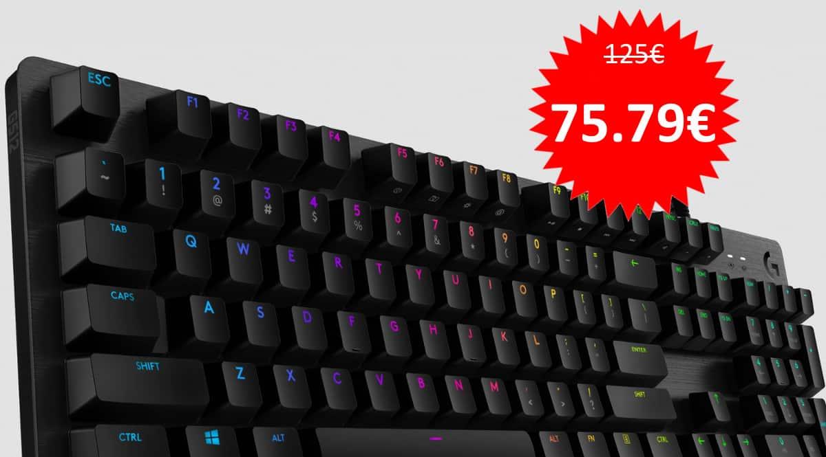 Teclado mecánico Logitech G512 Lightspeed barato. Ofertas en teclados, teclados baratos, chollo