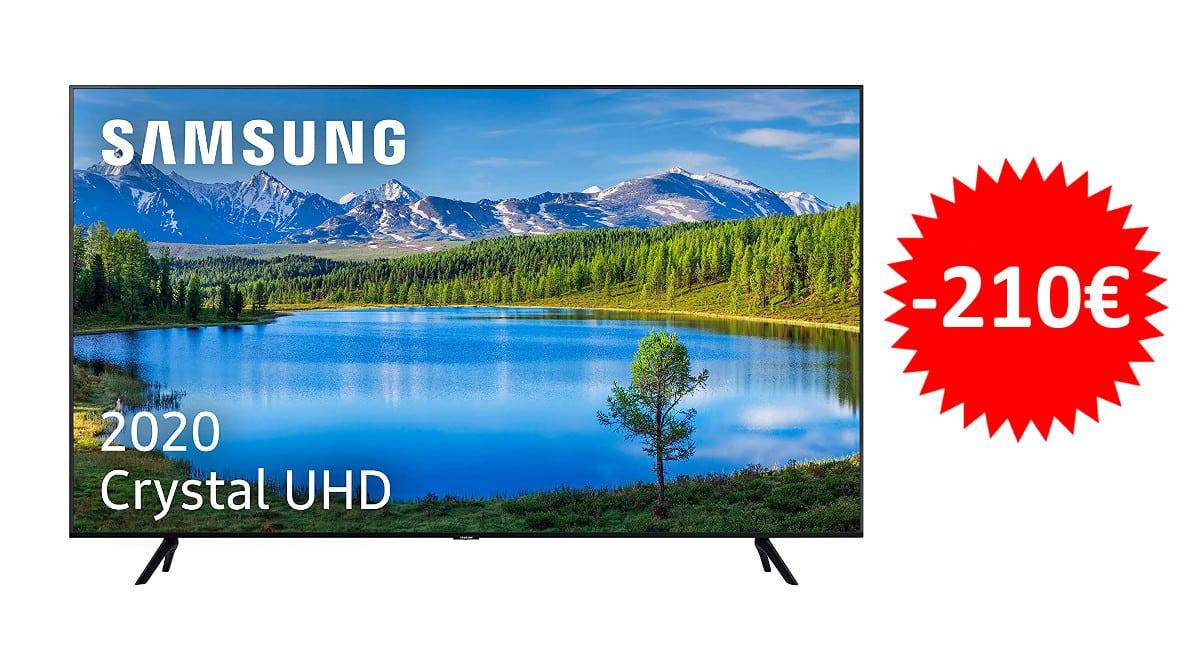 ¡¡Chollo!! Televisor Samsung Crystal UE55TU7095 de 55″ LED UltraHD 4K sólo 419 euros. Te ahorras 210 euros.