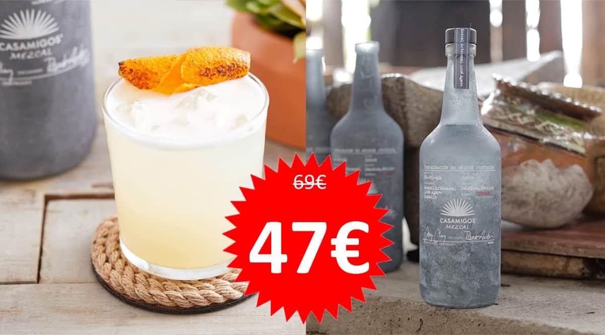 Tequila Casamigos Mezcal barato. Ofertas en bebidas premium, bebidas premium baratas, chollo