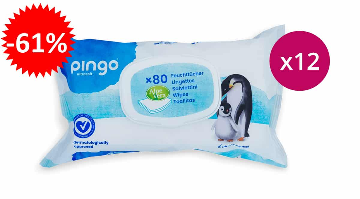 Toallitas ecológicas para bebé Pingo baratas, toallitas para bebés de marca baratas, ofertas supermercado, chollo