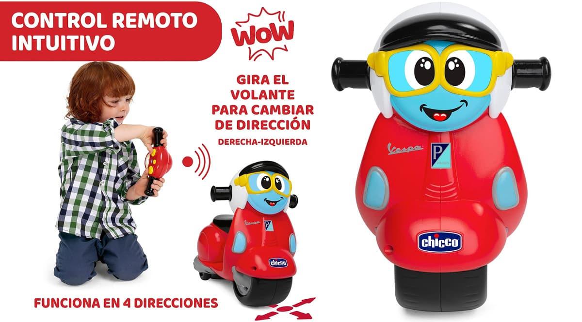 Vespa Primavera radiocontrol barata, juguetes baratos, ofertas para niños chollo